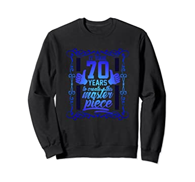 Unisex 70th Birthday Sweatshirt For Men Funny Gift Women 1948 2XL Black