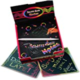 Rainbow Scratching Notes,Rainbow Scratch Off Mini Notes,Rainbow Scratch Paper for Kids Arts and Crafts,Includes 2 rainbow design desktop dispensers and 2 plastic styluses,Creative Fun for Kids
