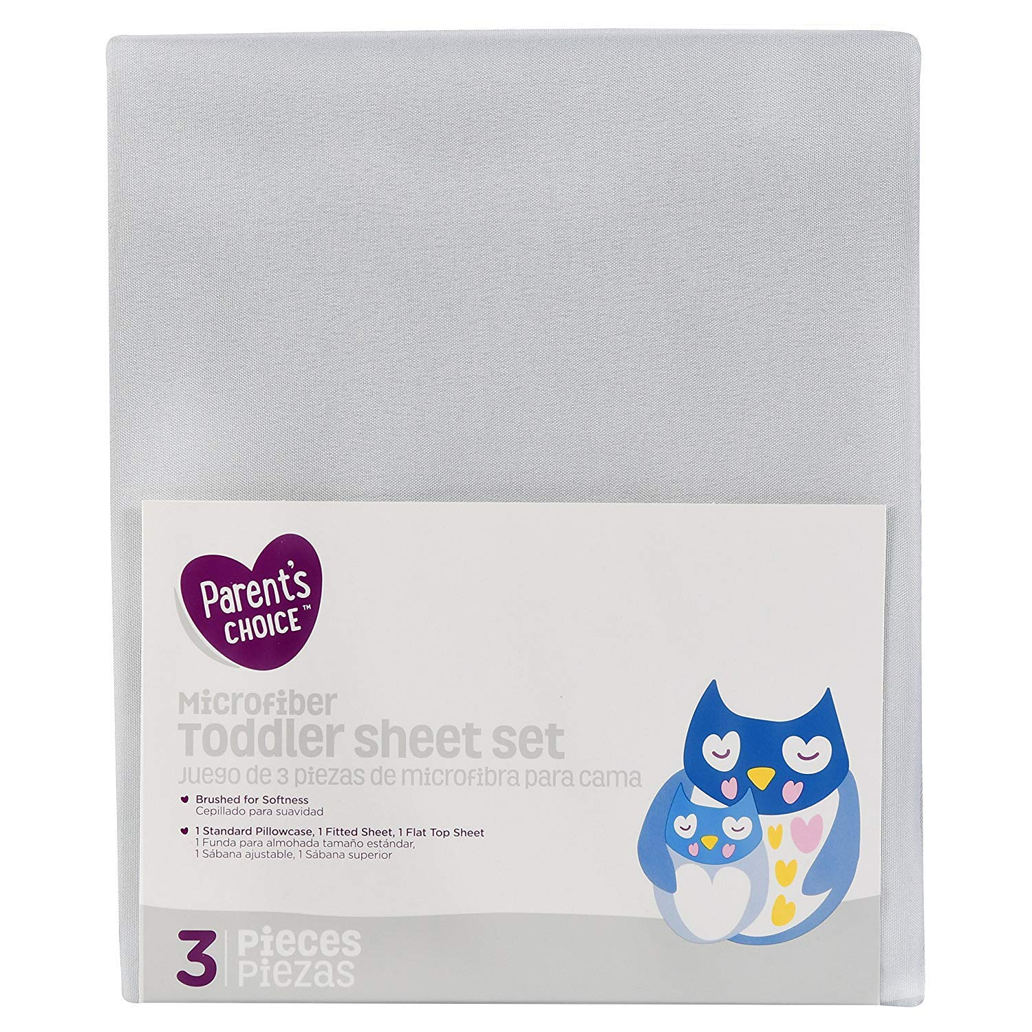 Parent's Choice Toddler Sheet Set, Gray, 3 Piece - Unisex