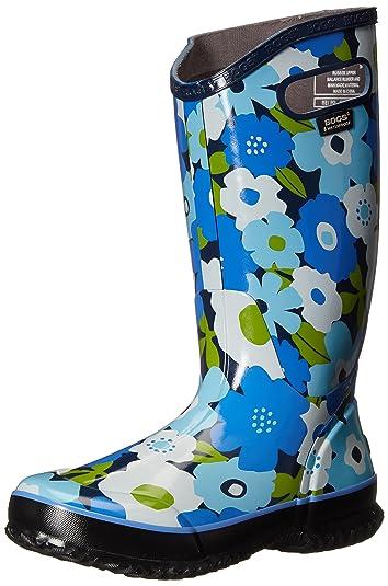 Bogs Women's Spring Flowers Rain Boot, Navy/Multi, ...