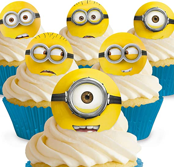 11 x PRE-CUT Despicable Me Minions Edible Cake Toppers
