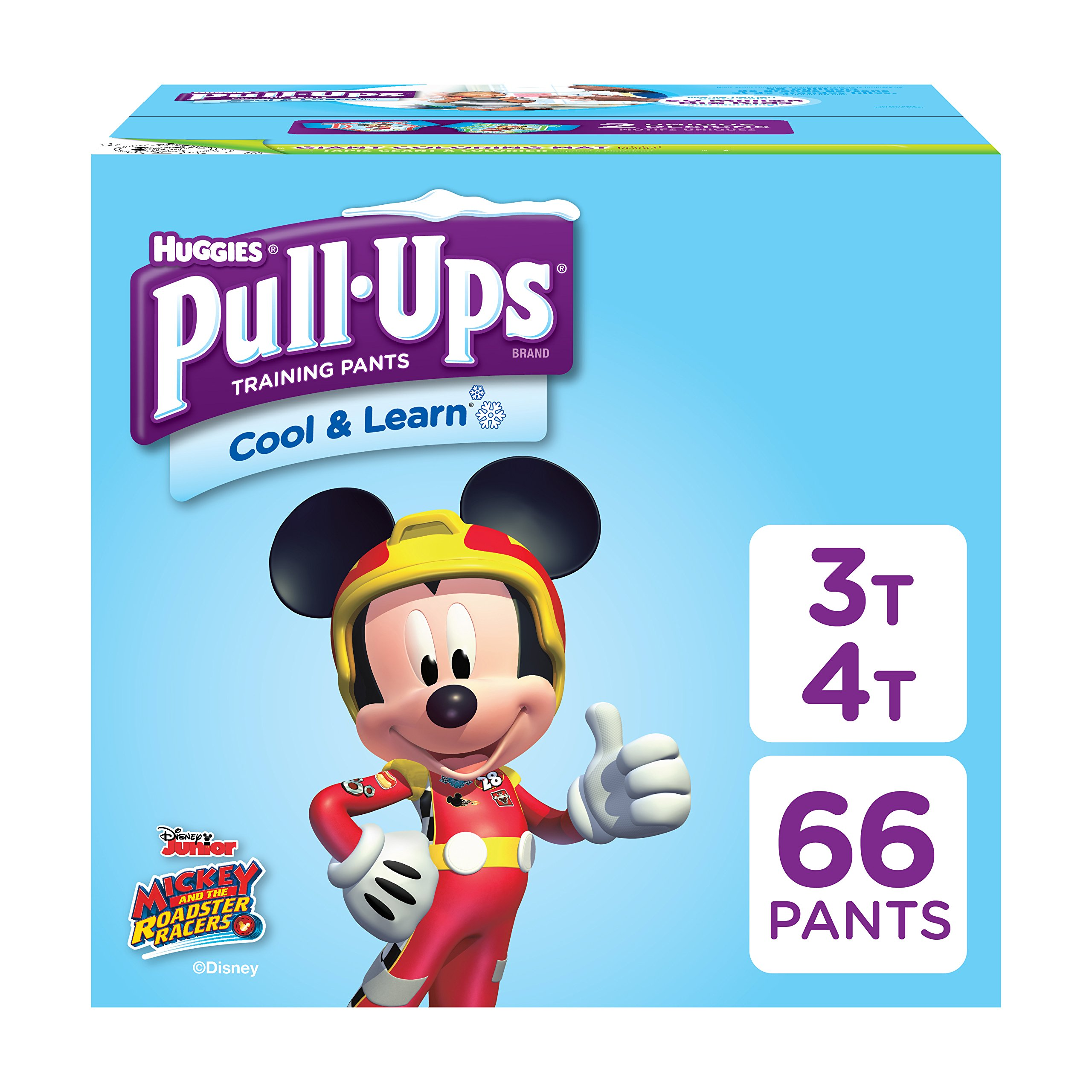 Pull-Ups Cool & Learn, 3T-4T (32-40 lb.), 66 Ct. Potty Training Pants for Boys, Disposable Potty Training Pants for Toddler Boys (Packaging May Vary)