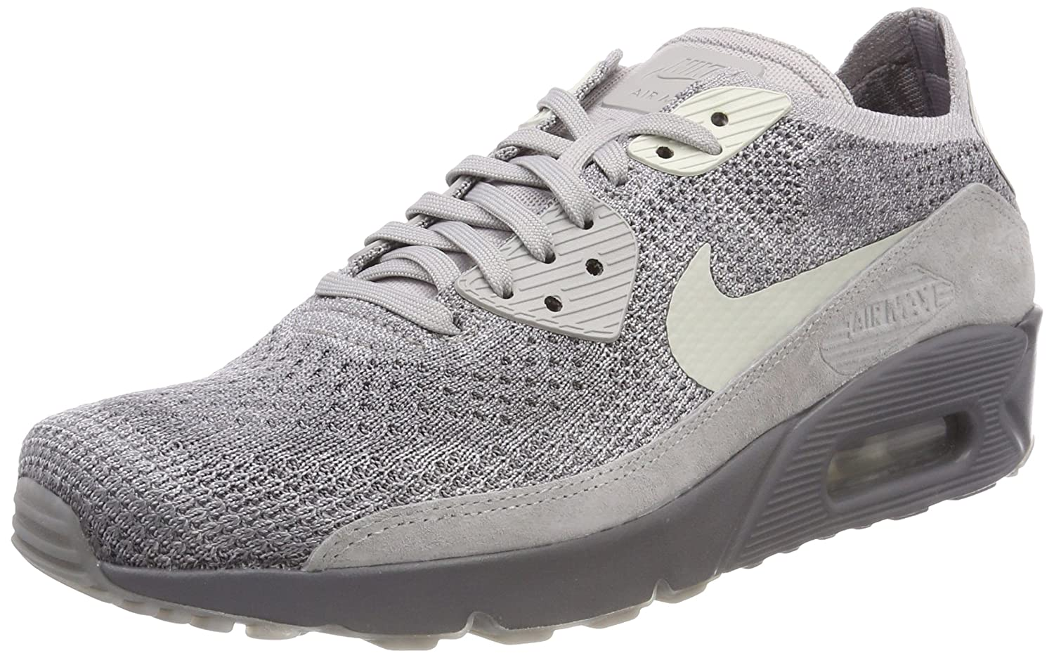 011d2ce297 Amazon.com | NIKE Men's Air Max 90 Ultra 2.0 Flyknit LightBone 875943-007  (Size: 9.5) | Fashion Sneakers