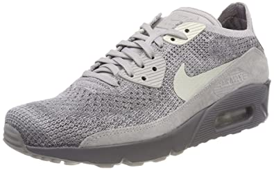 Nike Men's Air Max 90 Ultra 2.0 Flyknit Running Shoe (10 D(M) US, Atmosphere GreyLight Bone)
