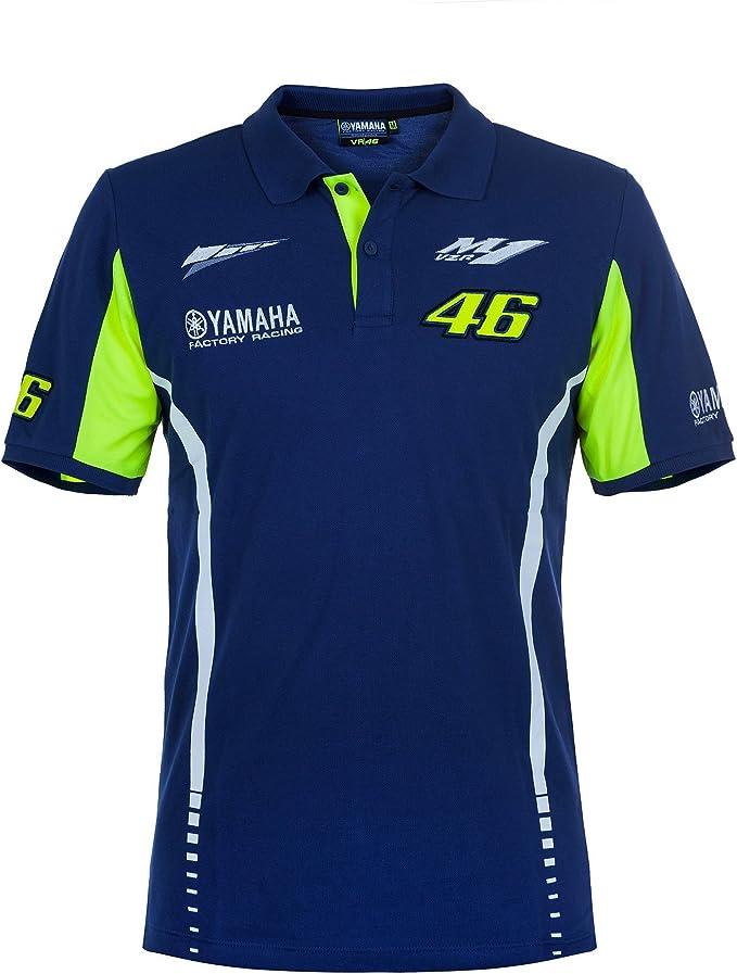 Valentino Rossi Yamaha Polo Camiseta VR46 Hombre Azul MotoGP 2017 ...
