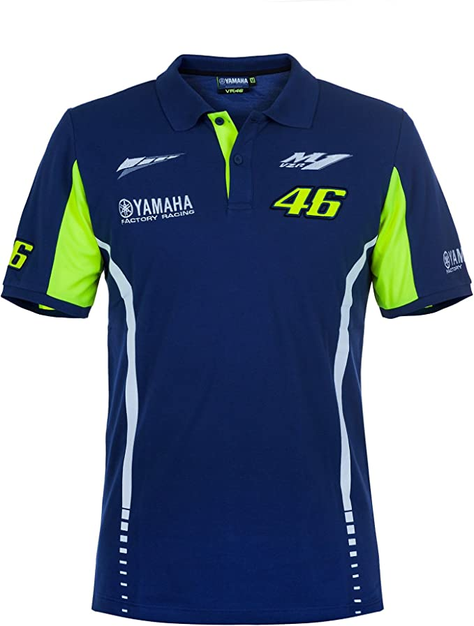 Vr46 Valentino Rossi 46 Yamaha Factory Racing Team Mens Polo Shirt M1yzr Motogp
