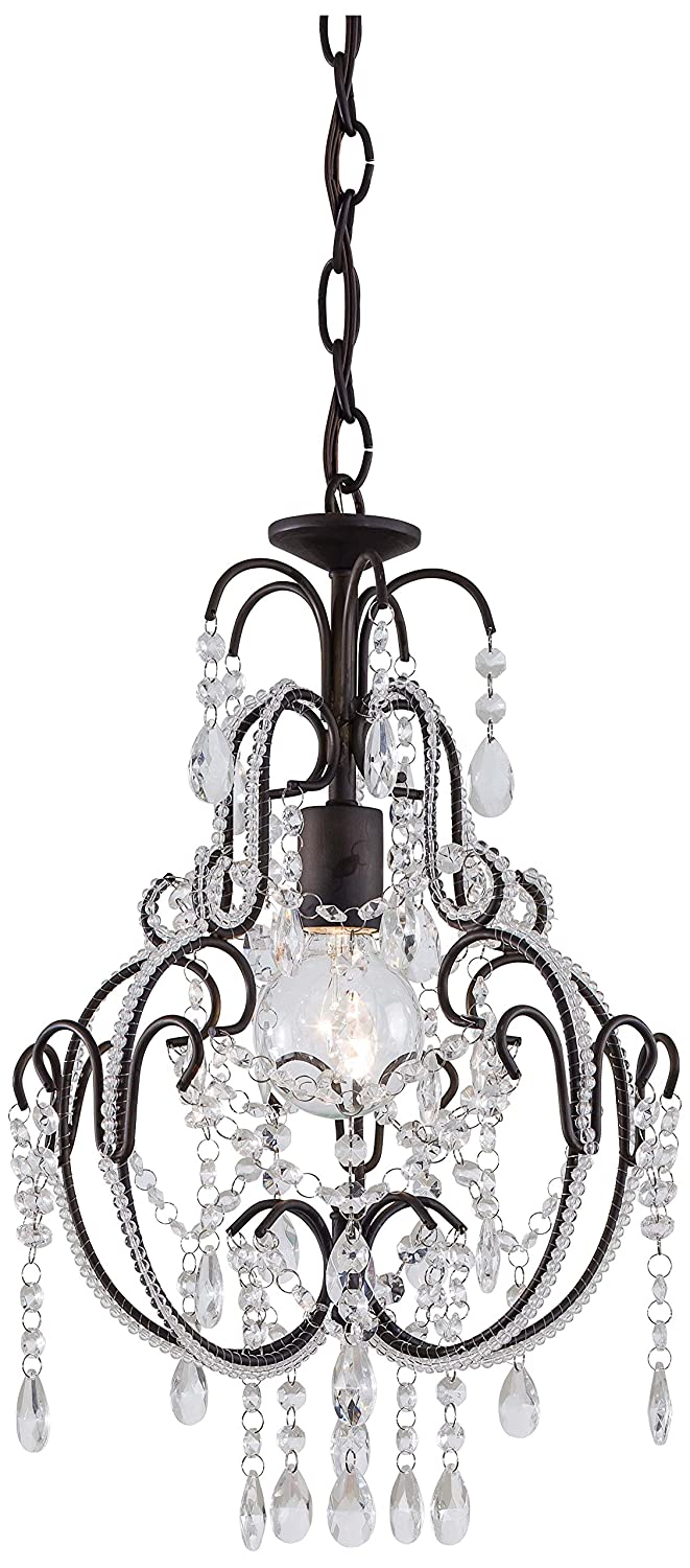 Minka lavery crystal chandelier lighting 3123 489 mini candle 1 light 60 watts bronze small crystal chandelier amazon com