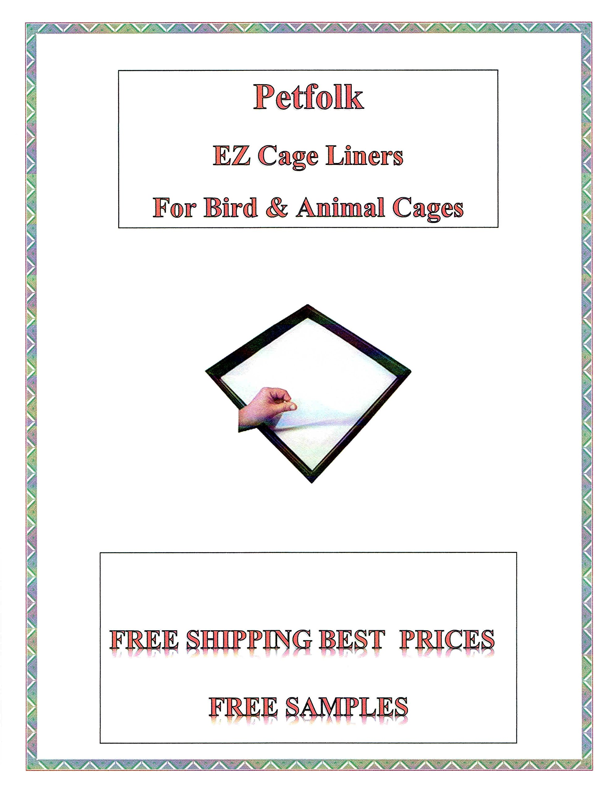 EZ Cageliner Bird Cage Liner Bird Cage Liners Wax 20lb Stock Paper Custom Cut to Order 150 Sheets Cut to Size-Message US After Checkout with Specific Size (Size up to 18 Inches X 18 Inches) by EZ Cageliner
