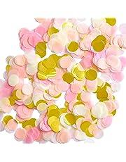 1 Pouce Papier Confetti Ronde Tissus Confettis Confetti Papier de Table Cercle de Fête, 6000 Pièces, 4 Couleurs