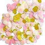 Outus 1 Inch Paper Confetti Round Tissue Confetti Party Circle Paper Table Confetti, 6000 Pieces, 4 Colors