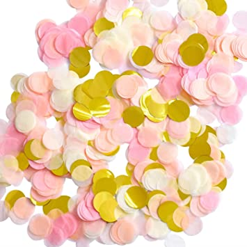 1 inch paper confetti round tissue confetti party circle paper table
