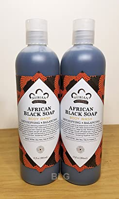 Nubian Heritage Body Wash, African Black Soap, 13 Fluid Ounce (2 Pack)