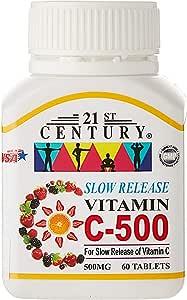 21ST Century Vitamin C 500mg, Slow Release, 60ct