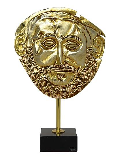 Máscara de agamemno chapada en oro, máscara de reproducción de Micenaean King Funeral de Talos