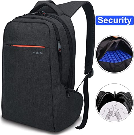 Notebook Bookbag Urban Laptop Backpack Anti Theft fit Computer 15.6 inch Travel Waterproof Bag Lightweight Shockproof Business Backpacks Black Water Resistant for School Work College