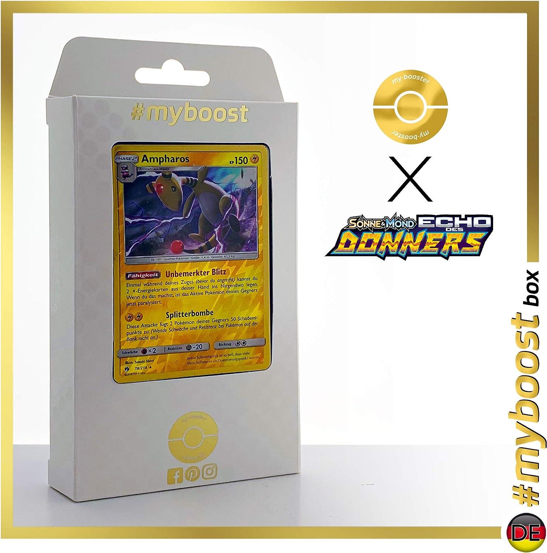 Pharamp 78//214 Holo Reverse #myboost X Sonne /& Mond 8 Echo des Donners Ampharos Coffret de 10 Cartes Pok/émon Allemandes