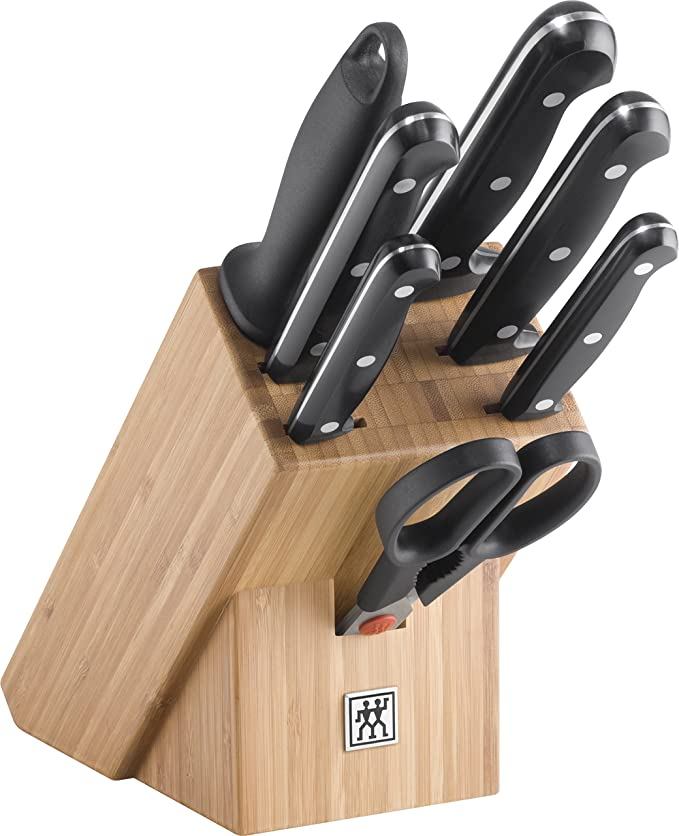 [amazon.de] ZWILLING Twin Chef Messerblock, Bambus, 8-teilig um 99,99€ anstatt 149,99€