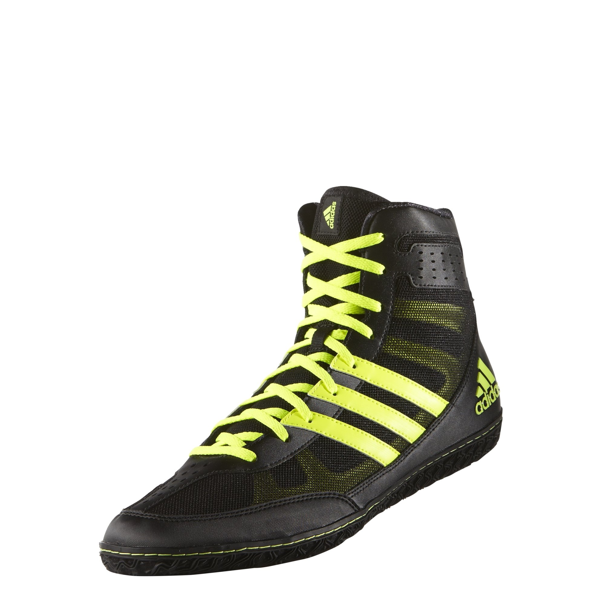 Adidas Mat Wizard David Taylor Edition Wrestling Shoes Black/Solar Yellow Size 10.5