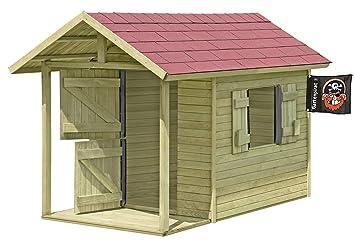 Spielhaus Louis Gartenhaus Aus Holz Mit Fussboden Fur Kinder Mit