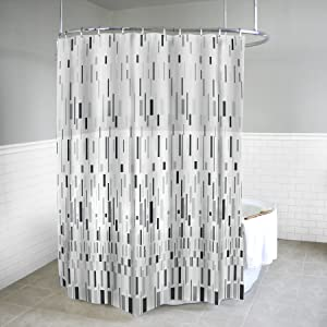 Splash Home EVA 5G Bars Curtain Liner Design for Bathroom Showers and Bathtubs Free of PVC Chlorine and Chemical Smell-100% Waterproof, 70 x 72 Inch, Grey