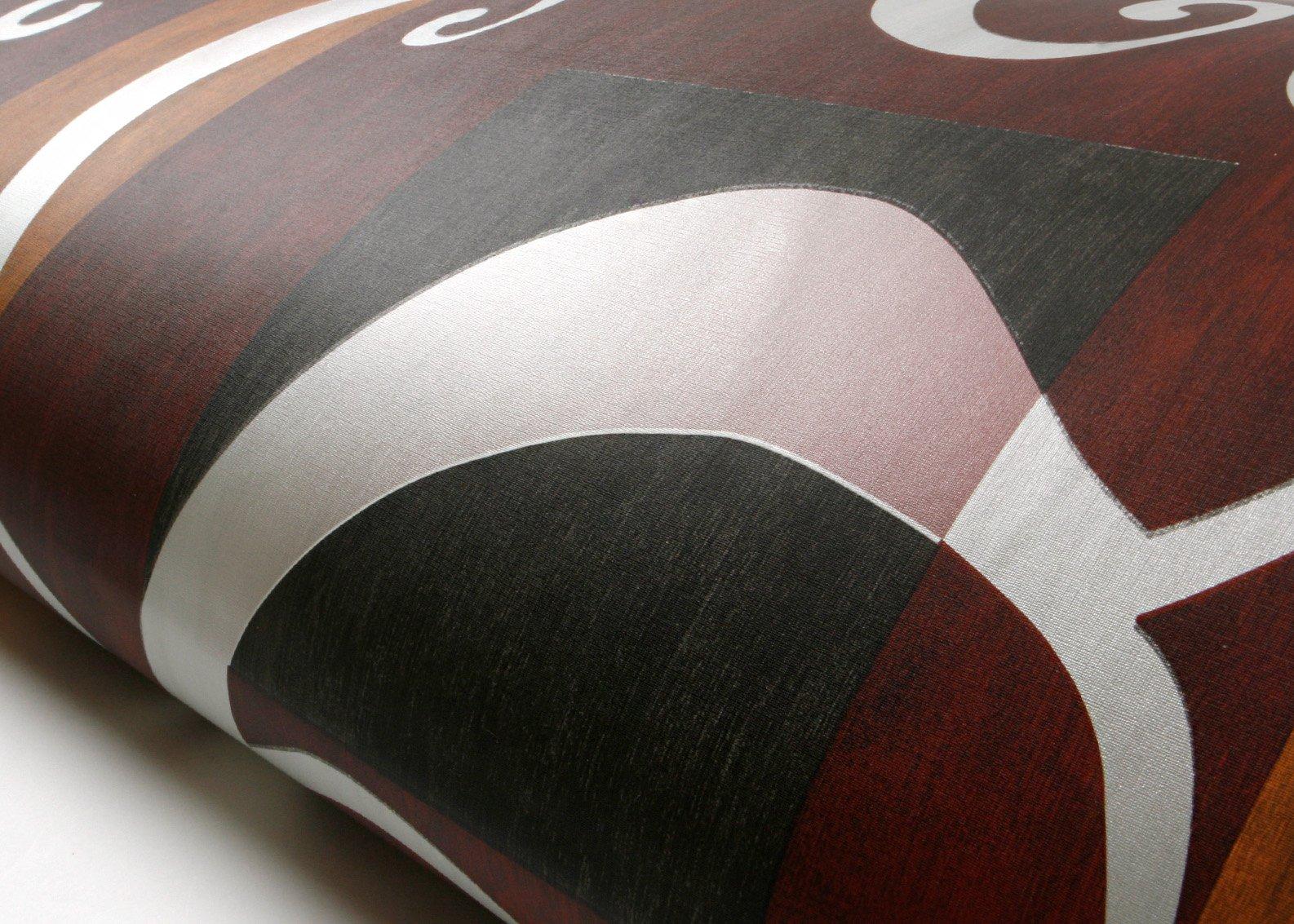 ROSEROSA Peel & Stick Backsplash Papyrus Victoria Damask Oriental Paper Textured Vinyl Contact paper Interior Film Shelf Liner Table and Door Reform (FP9143-2 : 2.00 Feet X 6.56 Feet)