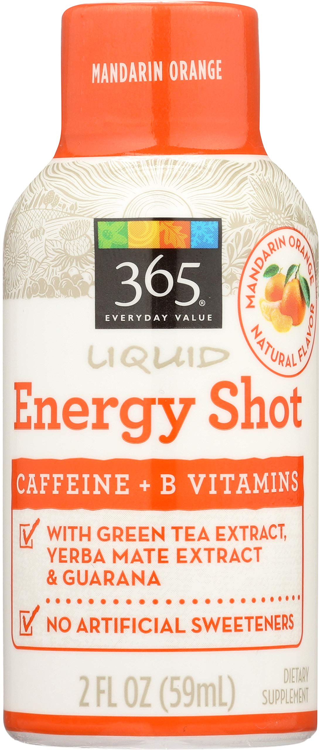 365 Everyday Value, Liquid Energy Shot, Mandarin Orange, 2 Fluid Ounce