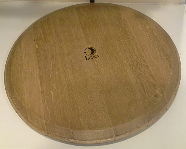 Solid French Oak Recycled Wine Barrel Head Lazy Susan By Lunes