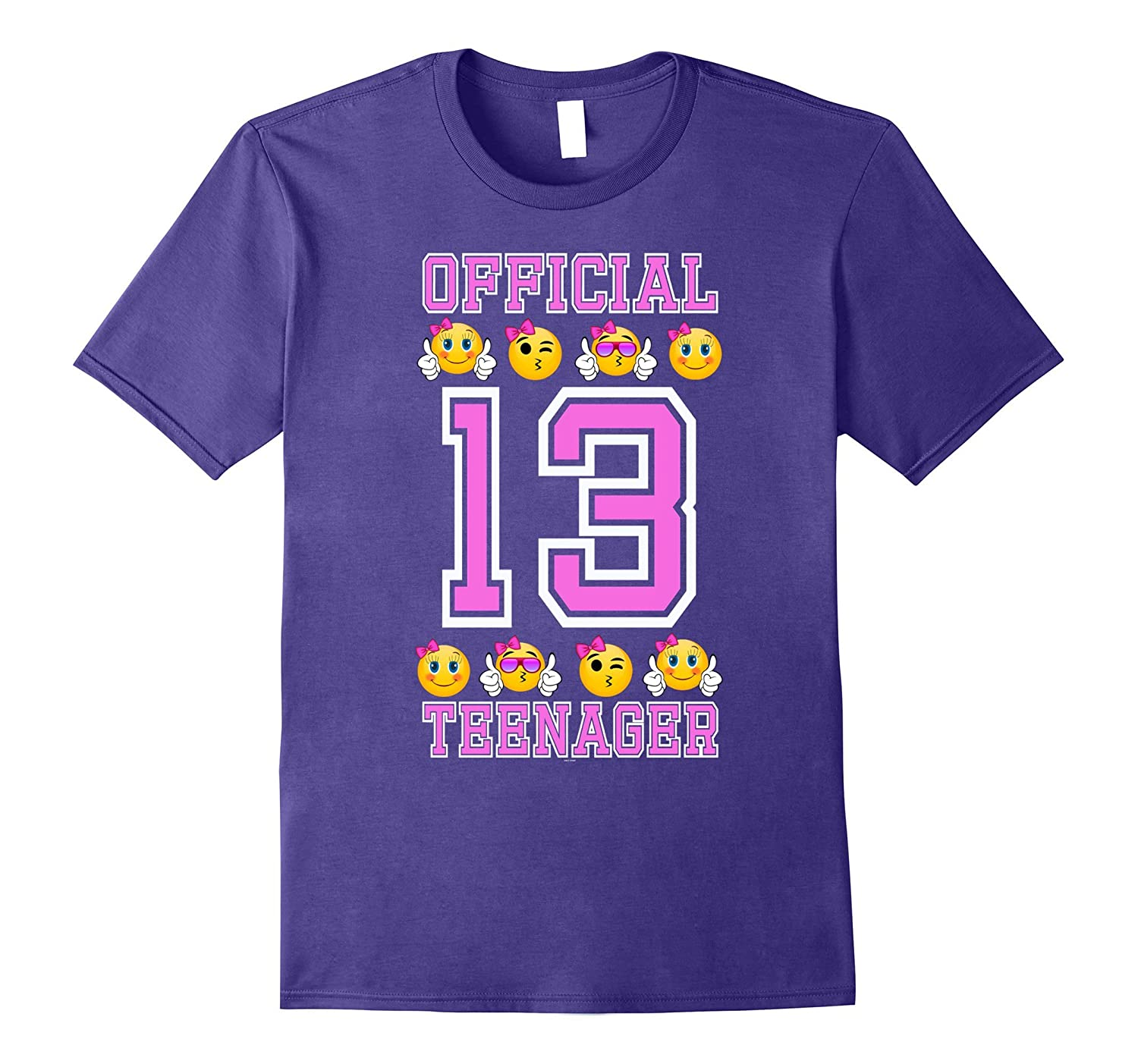 Emoji 13th birthday gifts for teenagers age 13 girls Tee-TD