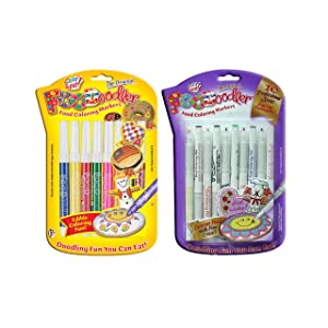 FooDoodler Edible Pens for Cookies and Cakes Food Coloring Pens Sets Bundle — Original in 8 Colors and Fine Line in 10 Colors — DIY Edible Markers for Cookie Decorating Tools and Biscuit Icing