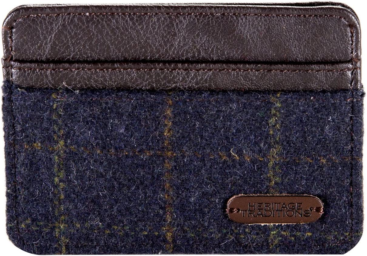 Heritage Traditions Tweed Small Card Travel Holder Purse Blue
