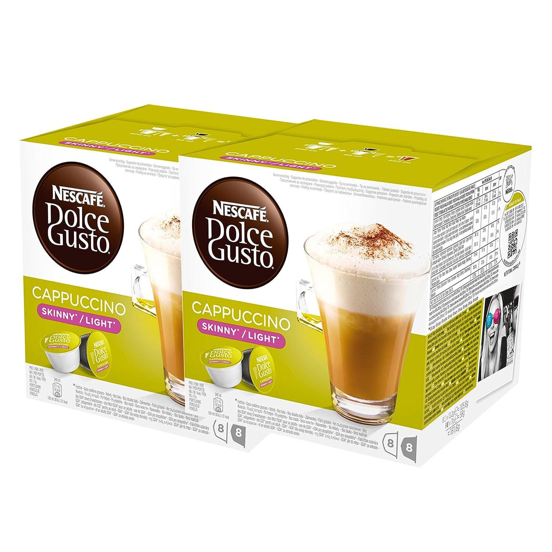Nescafé Dolce Gusto Cappuccino light, Paquete de 2, 2 x 16 Cápsulas (16 Tazas): Amazon.es: Alimentación y bebidas