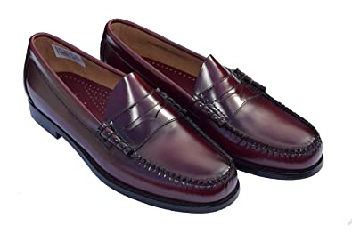 67bbfa90097 Bass Weejun Wine Larson Penny Loafers Sizes 7-11 Available  Amazon ...