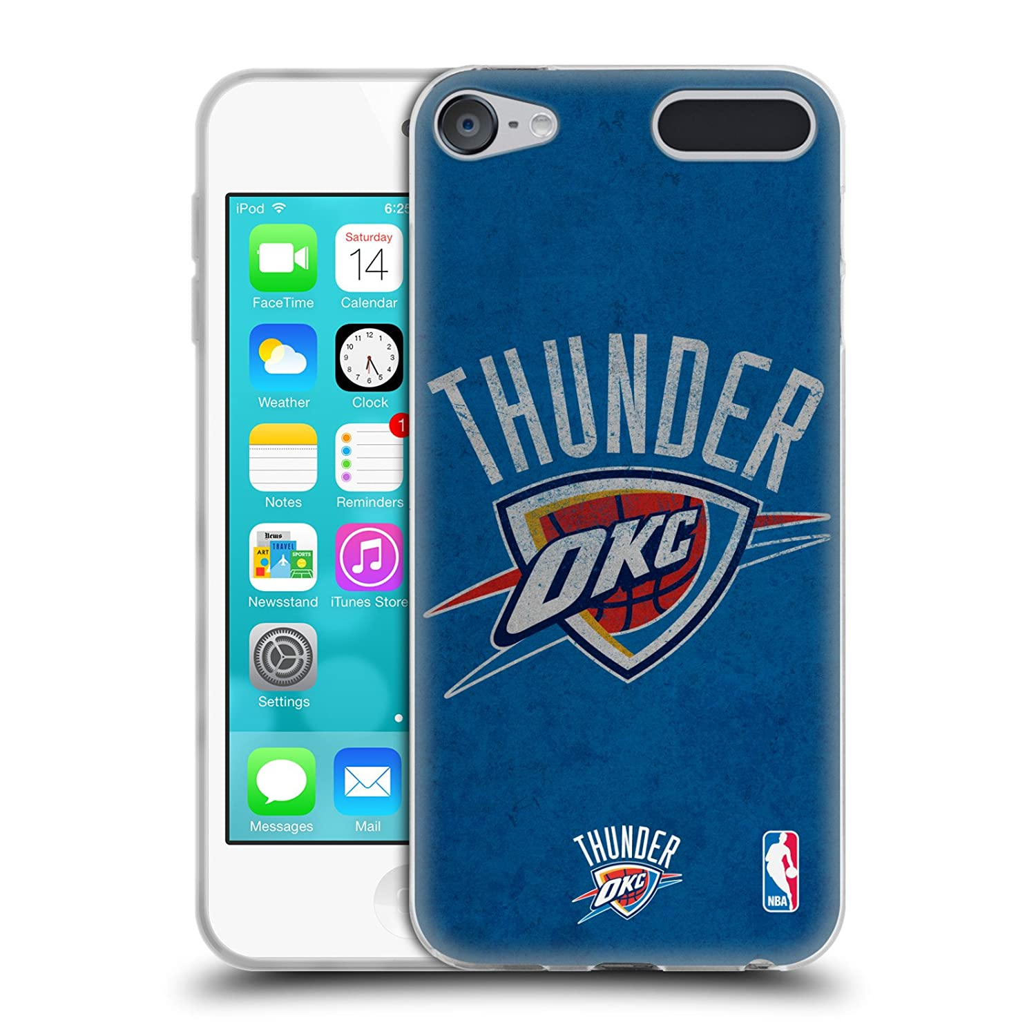 Official NBA Digital Camouflage Oklahoma City Thunder Soft Gel Case for Apple iPod Touch 6G 6th Gen Head Case Designs HTPCR-TOUCH6G-NBAOKL-DIG