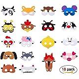 Masques de super-héros, Super-Héros Masque de Feutre Partie Demi-Masques avec Corde Élastique pour Enfants Masques de Super-héros Cosplay ou mascarade 30 Pièces