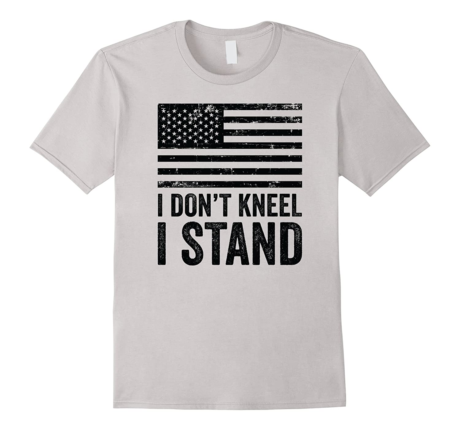 I Don't Kneel I Stand For The National Anthem T Shirt-Art