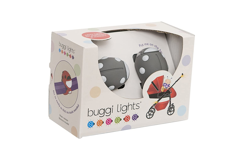 Buggi Lights BUGGIGGS Kinderwagenlicht grau mit hellgrauen Flecken