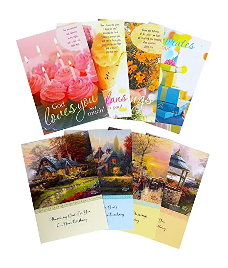 Amazon DaySpring Birthday Card Bundle Set 12 Kinkade Sweet Blessings 24 Cards With Envelopes Office Products