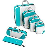 Compression Packing Cubes, Gonex 6-teilig Kleidertaschen Set mit 8 Farbauswahl