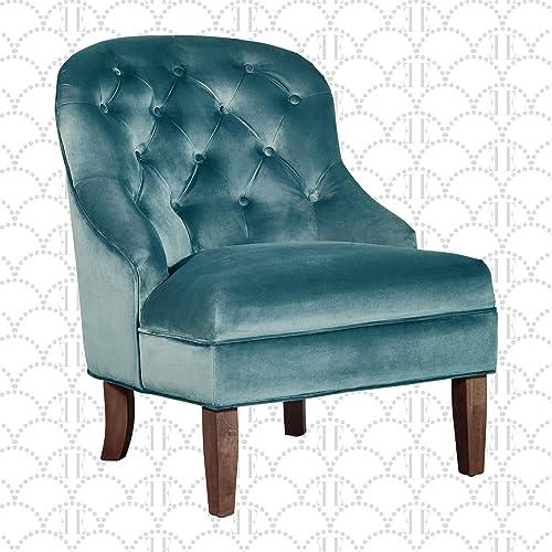 Elle Decor Vera Wingback Upholstered Tufted Armchair