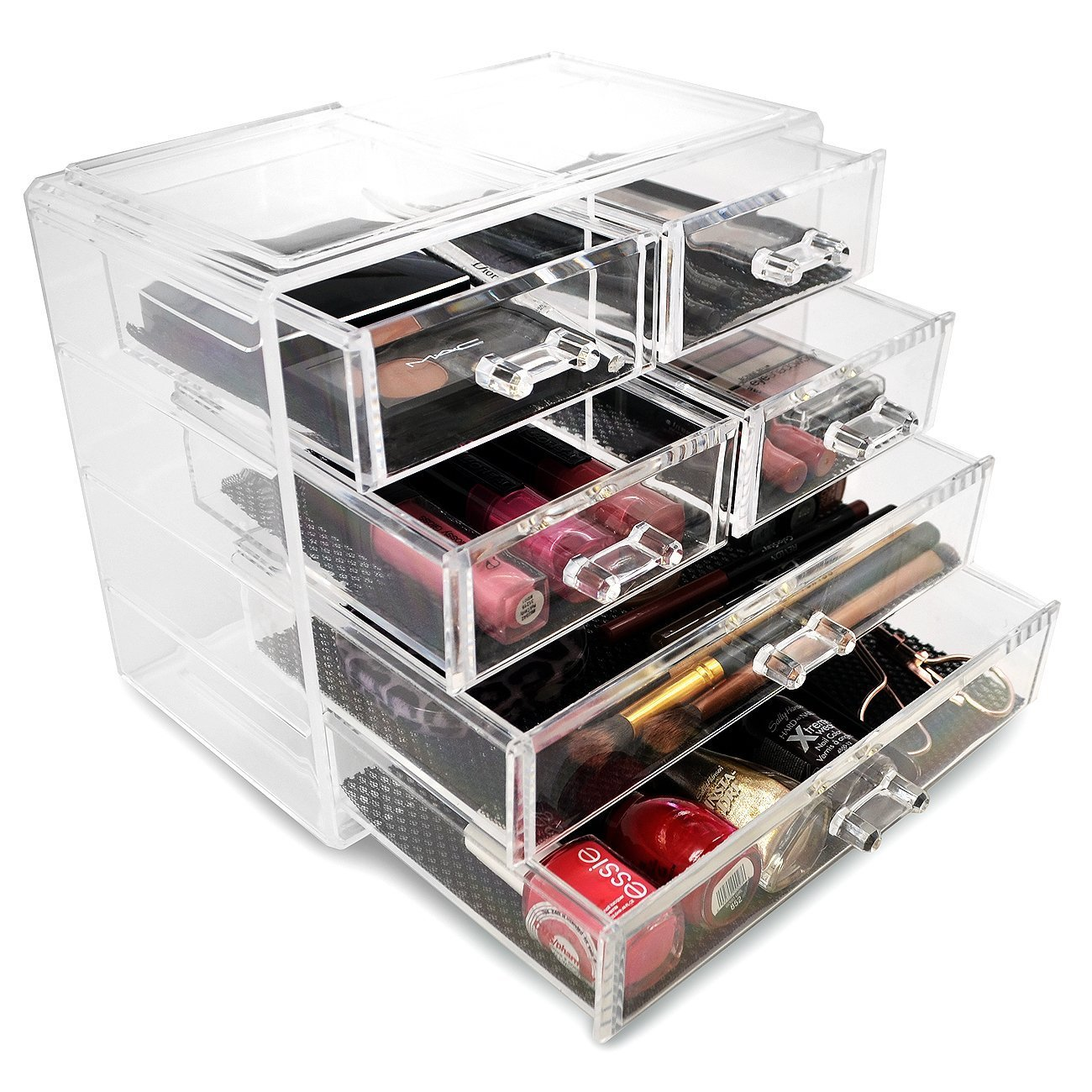 Sorbus Acrylic Drawer Makeup Organizer with Removable Drawers 2 Large and 4 Small Drawers GGI International MUP-STRG24