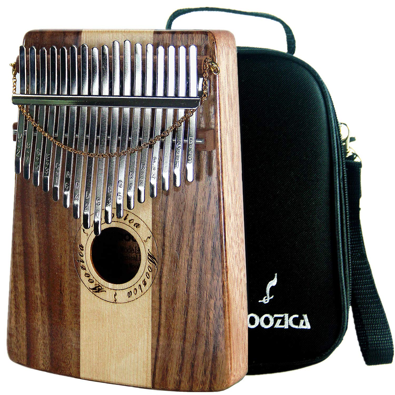 Moozica 17 Keys Kalimba Marimba, Professional Thumb Piano Sanza Mbira Musical Instrument Gift (Koa-Spruce K17SD)