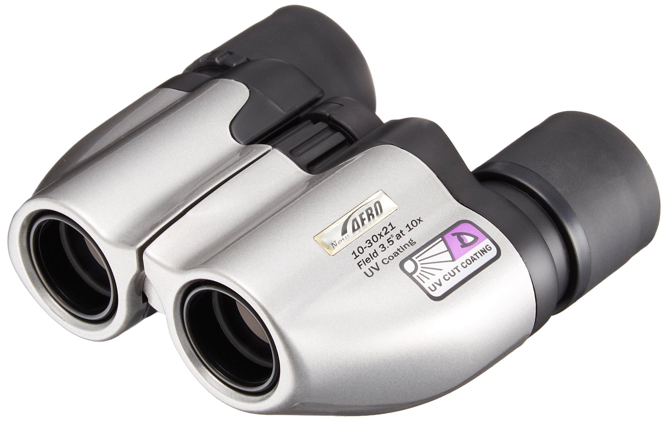 Kenko Binoculars New Aero 10-30x21 UV Zoom Silver by Kenko