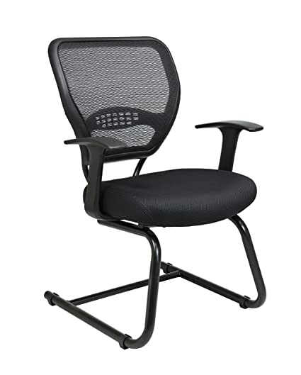 Exceptionnel Office Star SPACE Collection: Air Grid Back Guest Chair With Fabric Seat  And Cantilever Base