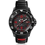 Ice-Watch - ICE carbon Black White - Montre noire pour homme avec bracelet en silicone