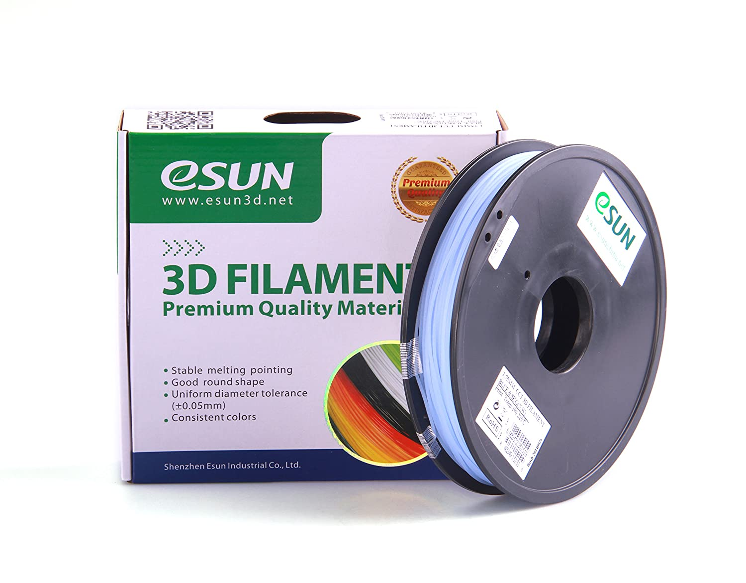 Color printing csun - Amazon Com Esun Color Changing By Temperature Filament 1 75mm Blue To White 0 5kg 1 1lb Spool For Makerbot Reprap Up Afinia Flash Forge And All Fdm 3d