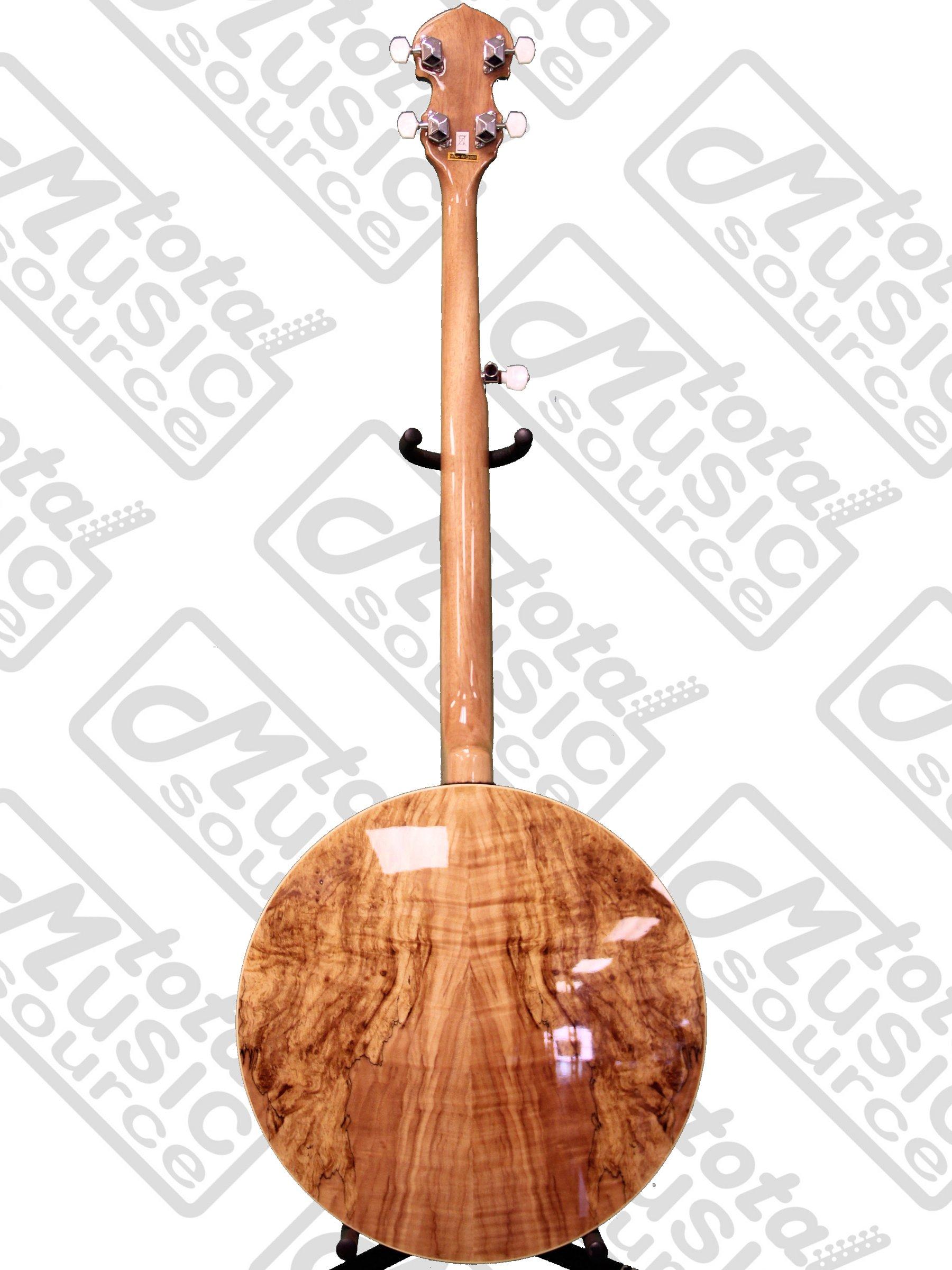 Oscar Schmidt OB5SP 5-String Banjo, Remo Head,Spalted Maple Resonator, Gloss Finish by Oscar Schmidt (Image #6)