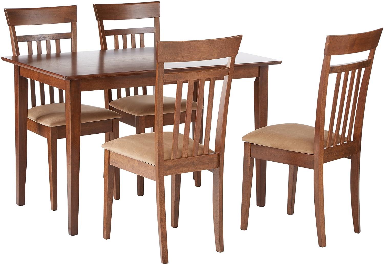 Stupendous Coaster Co 150430 5 Pc Dining Set Chestnut Creativecarmelina Interior Chair Design Creativecarmelinacom