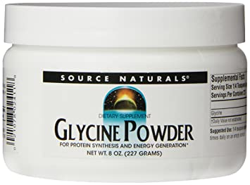 Source Naturals Glycine Powder, for Protein Synthesis and Energy  Generation, 8 Oz  (226 8 GM)