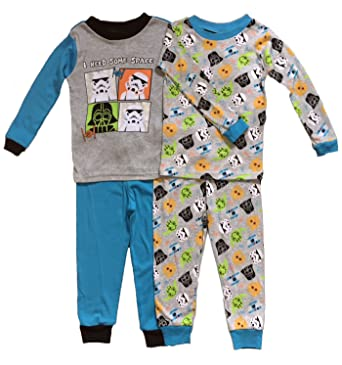 d06e0fb32 Amazon.com  AME Star Wars Little Boys Toddler 4 Pc Cotton Pajama Set ...