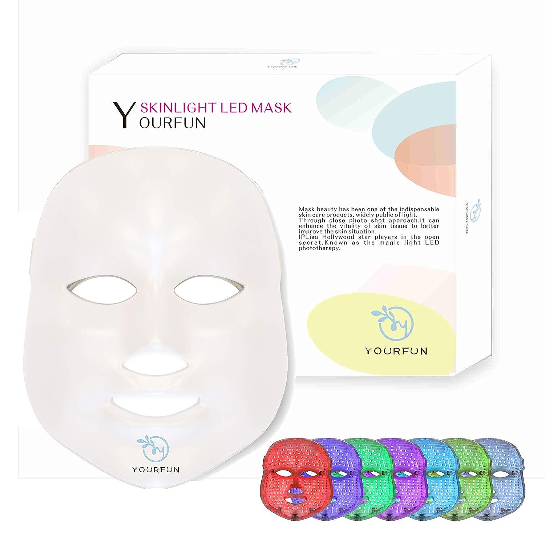 Pro 7 Color LED Face Mask Photon Light Skin Rejuvenation Therapy Korean Skin Care Facial Skin Care Spa Mask